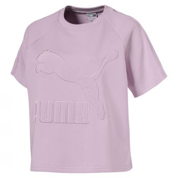 Puma Downtown Structured Tee, ženska majica, roze