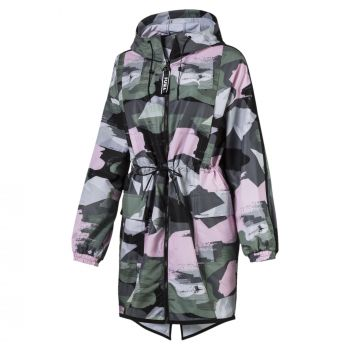 Puma Chase AOP Zip-Up Hooded Parka, ženska jakna, multikolor